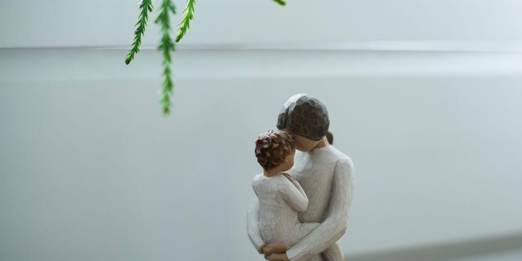Mum and baby alone